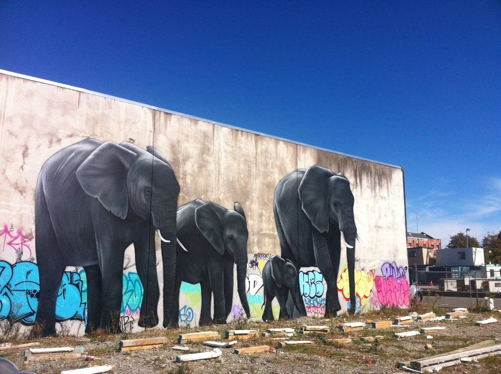 Part of the city's burgeoning street art scene