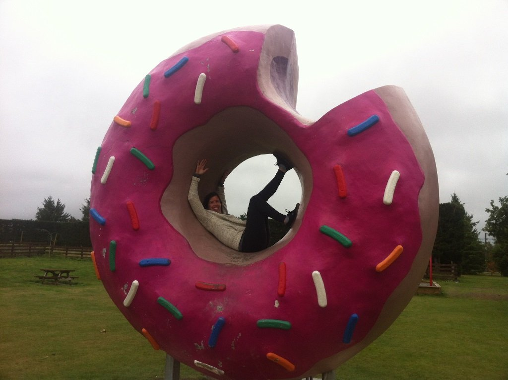 The actual giant doughnut from The Simpson's Movie