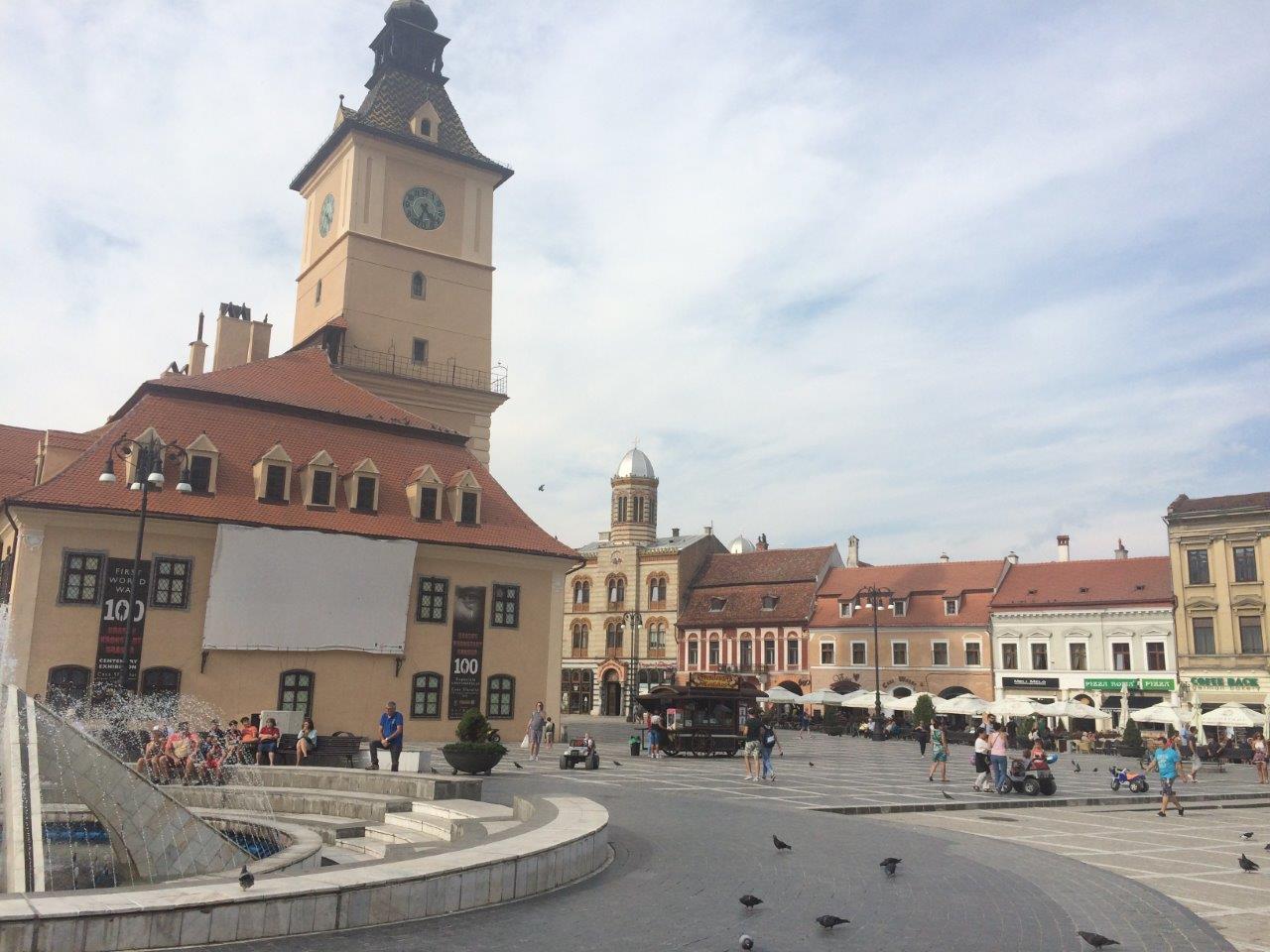 The City Hall in the main square in Brasov Romania