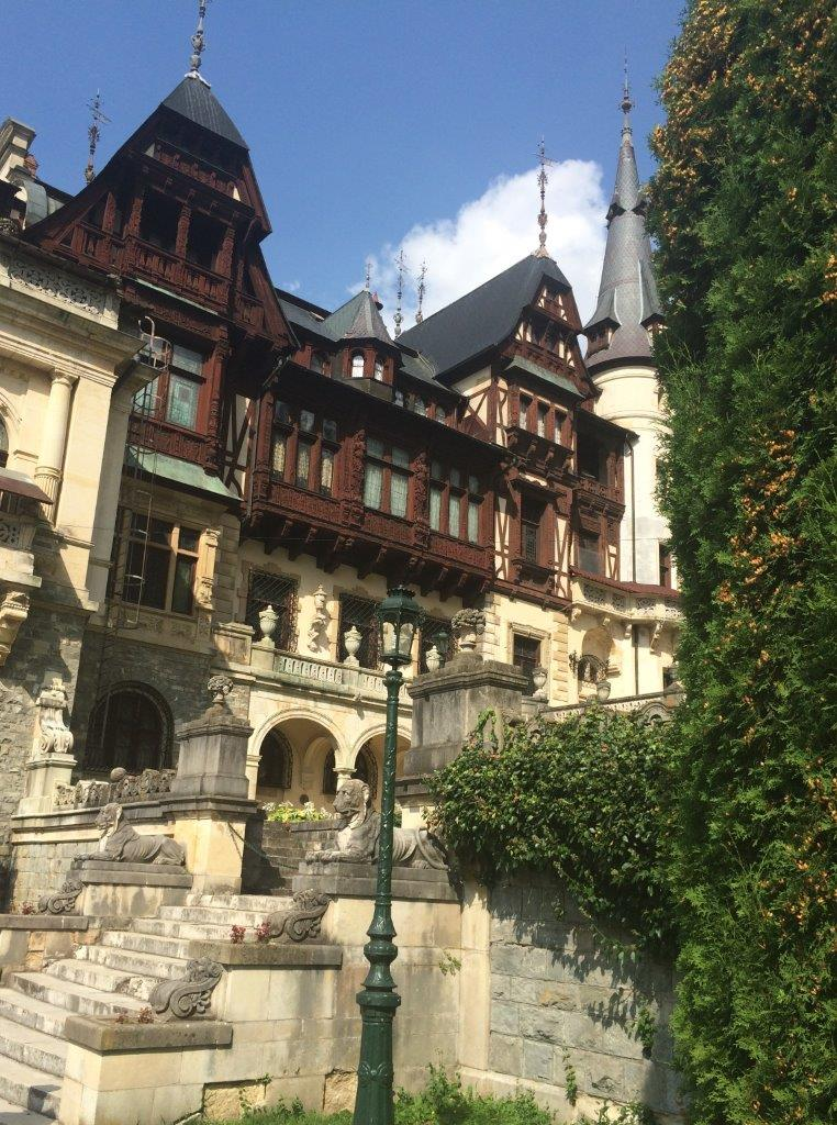 Peles Castle from the courtyard