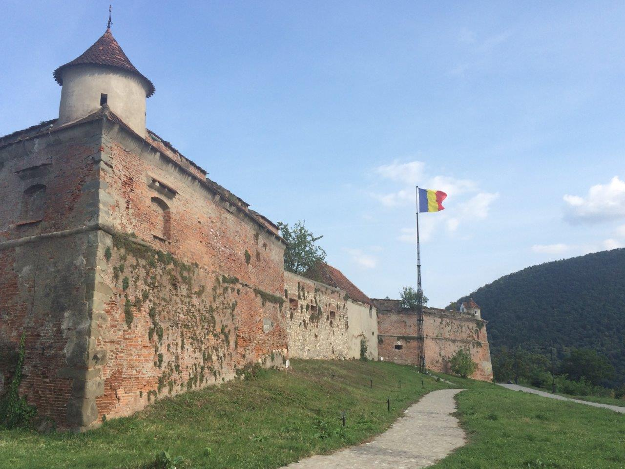 One of fortresses in Brasov Romania