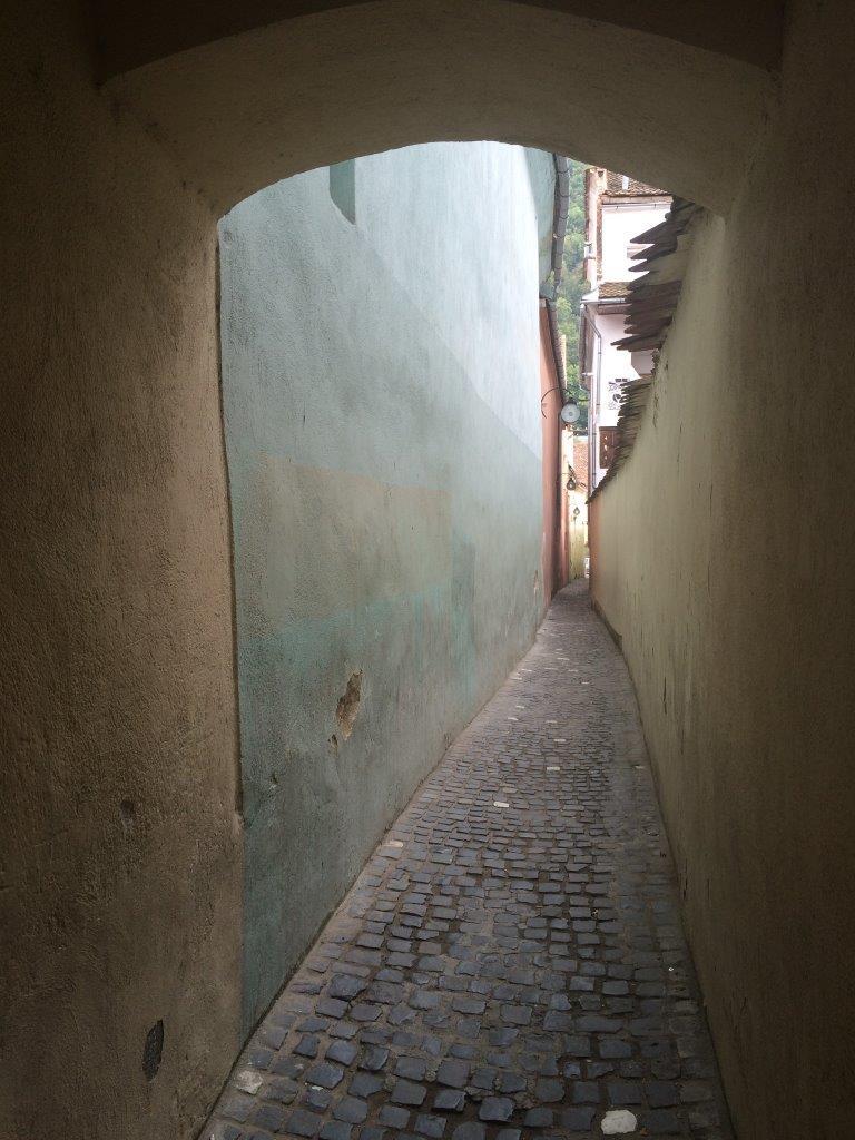 The narrowest street in Brasov Romania