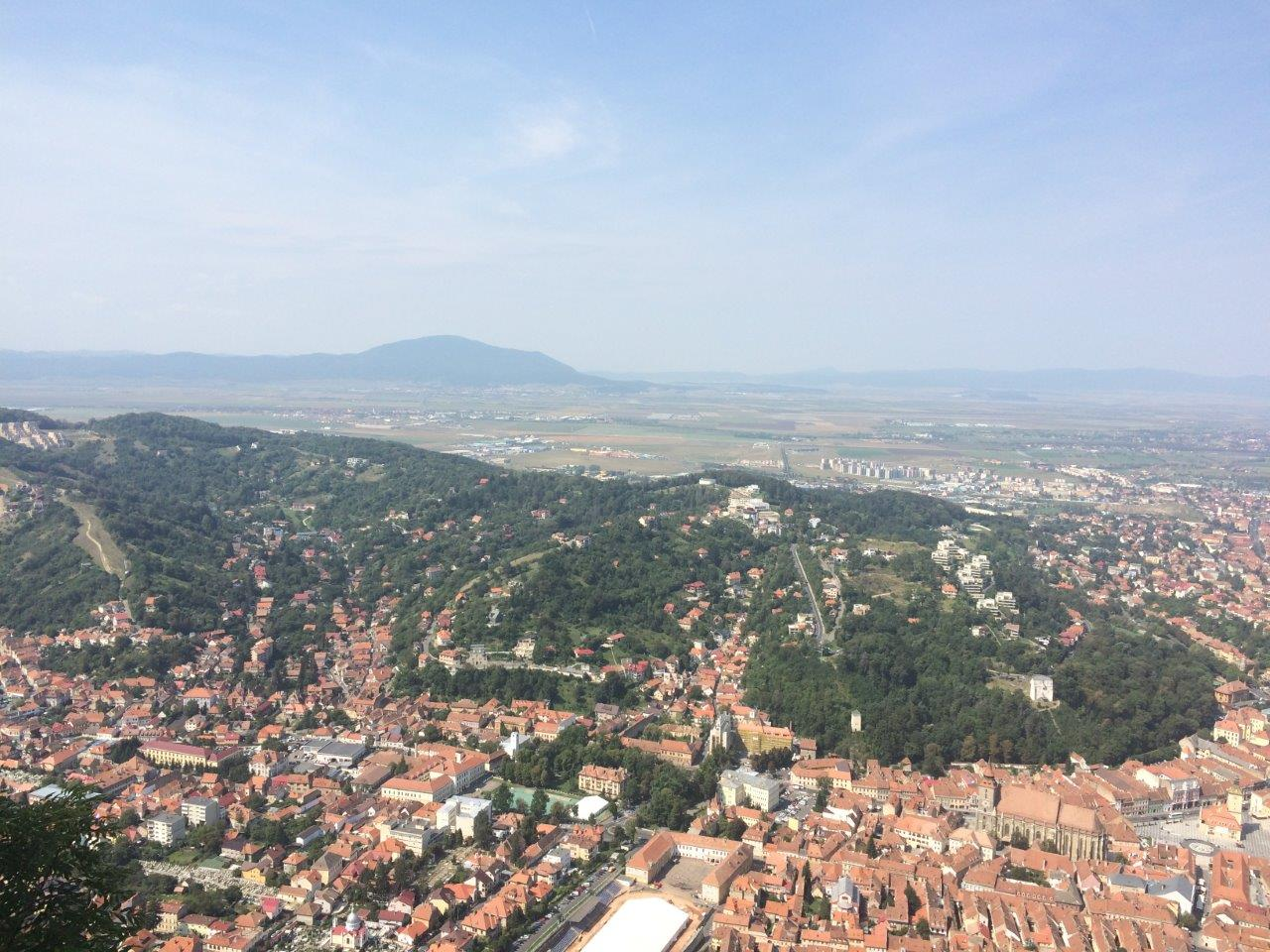 View over the city of Brasov Romania