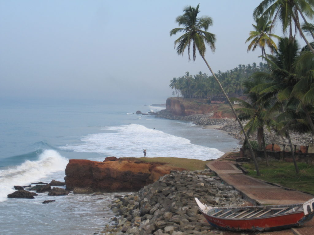 Cheap beach destination of Varkala in southern India