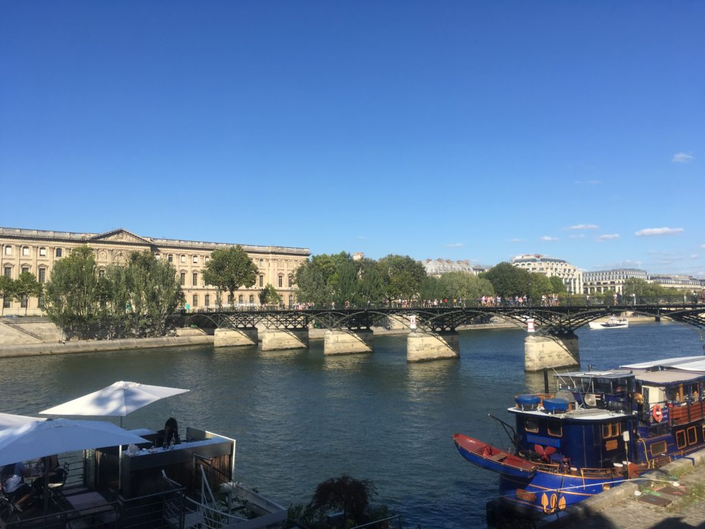 Boats and bridge on the River Seine