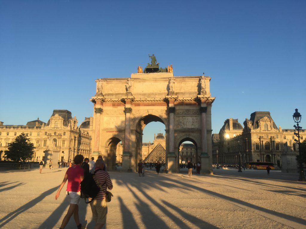 Sunset at the Louvre in Paris
