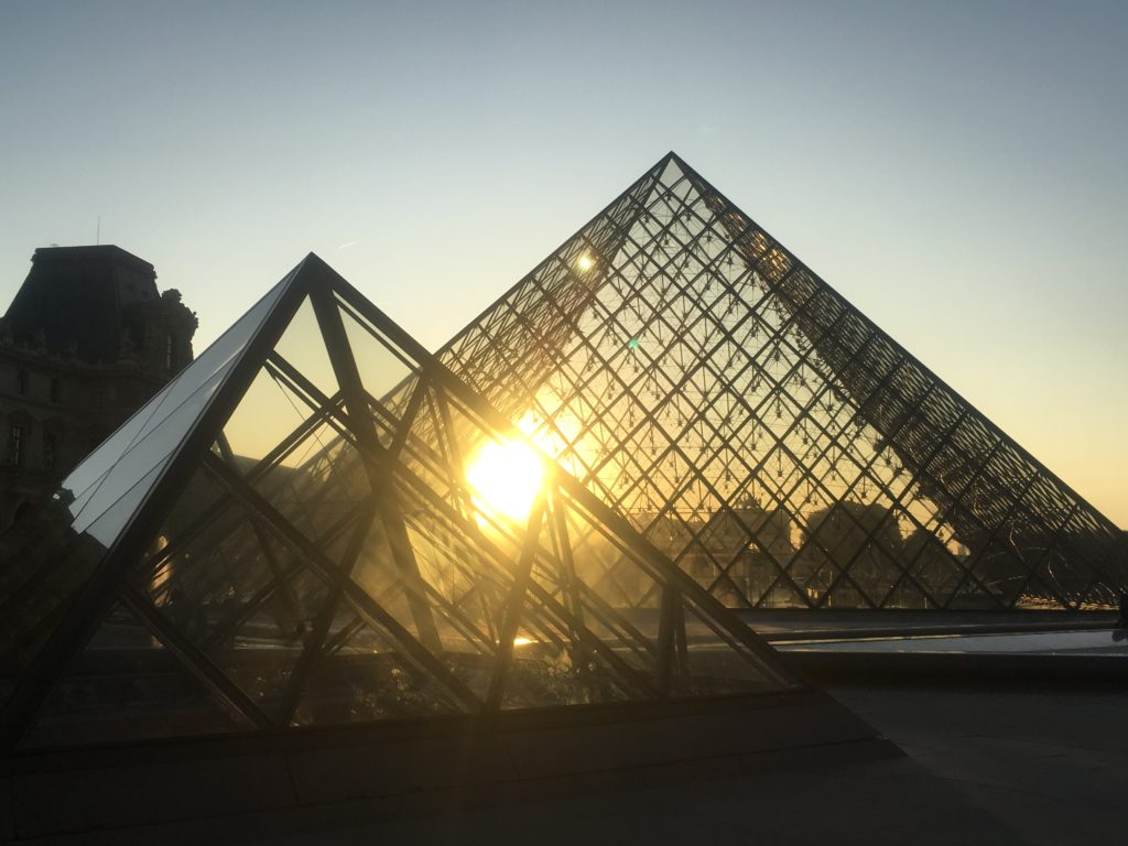 The Louvre sunset in Paris