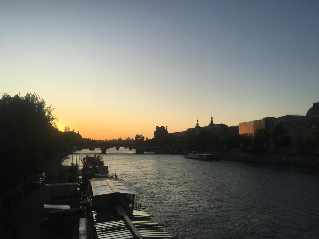 Sunset on the River Seine in Paris