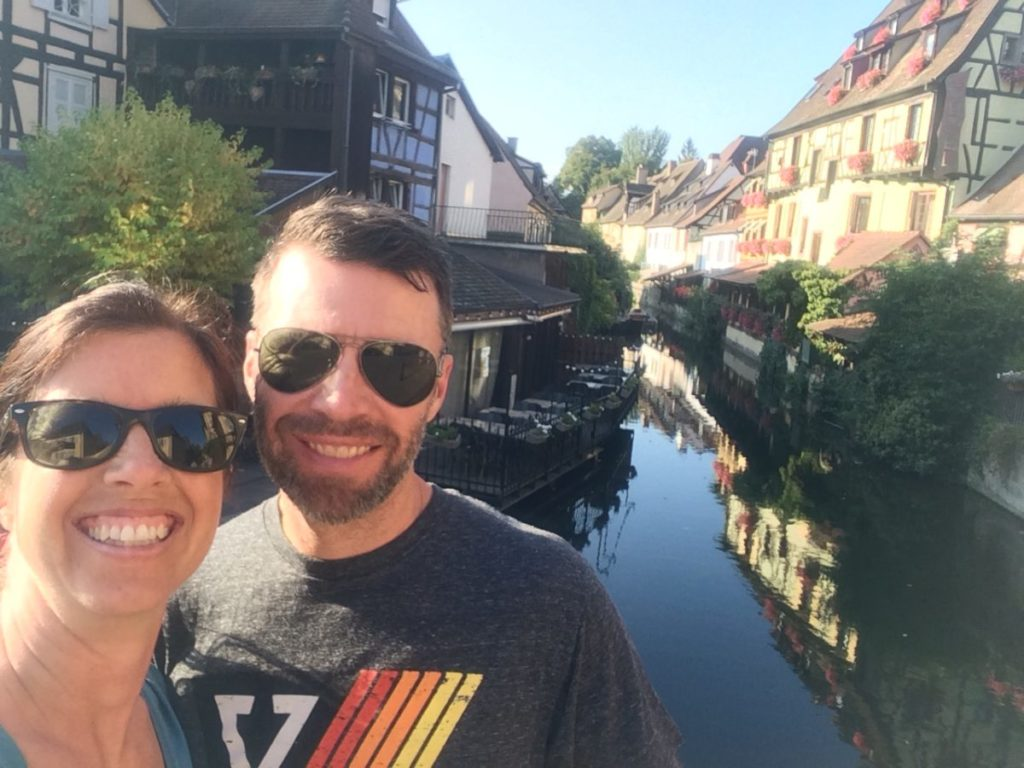 Couple on canal in Colmar