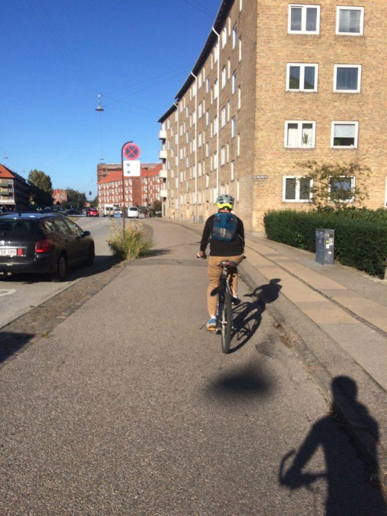 Man biking in Copenhagen