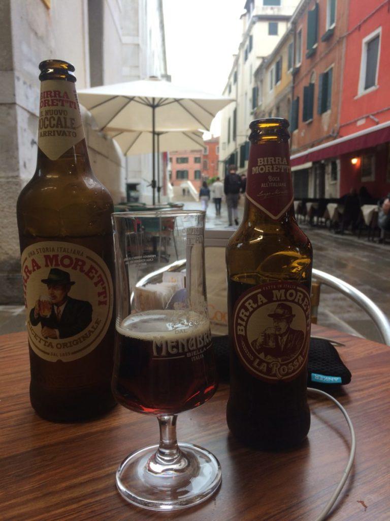 Moretti beers in Venice