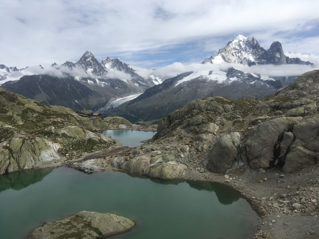 Lac Blanc in front of Mont Blanc massif