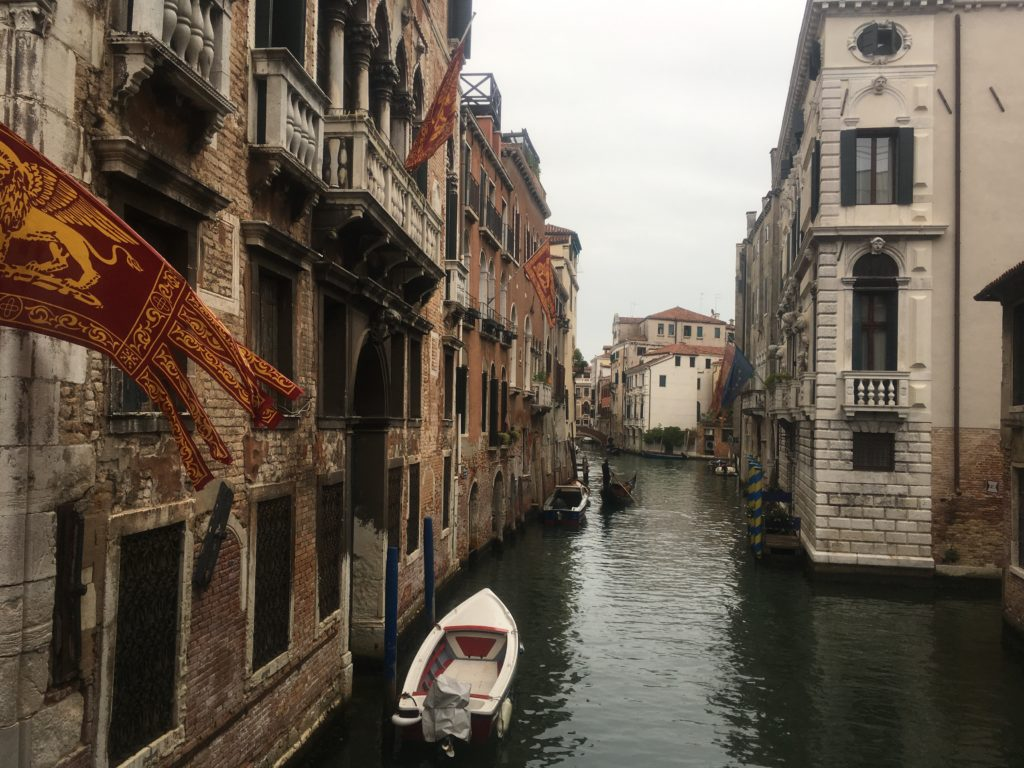 Boat on canal in Venice, Italy