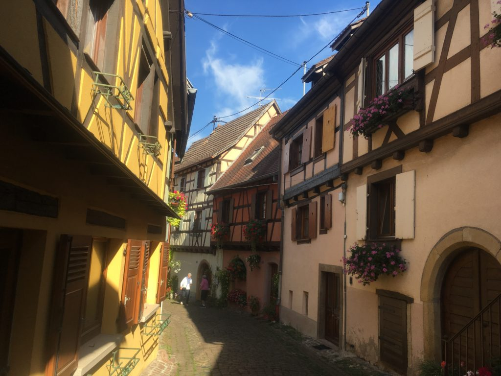 Colorful houses in Eguisheim