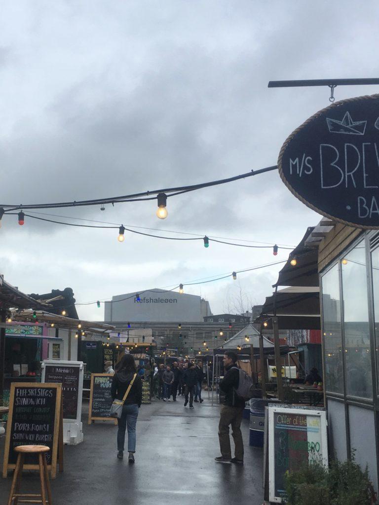 Food market in Refshaleoen in Copenhagen