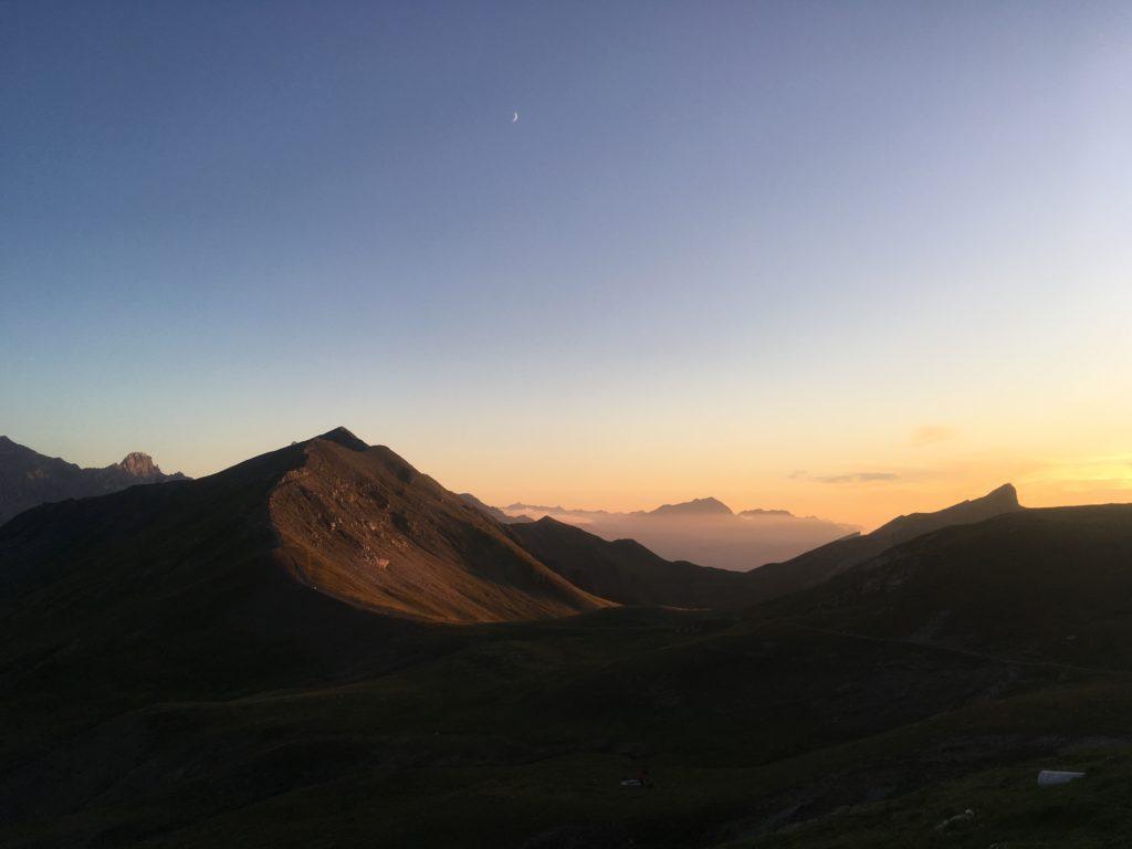 Sunset from Refuge de la Croix du Bonhomme