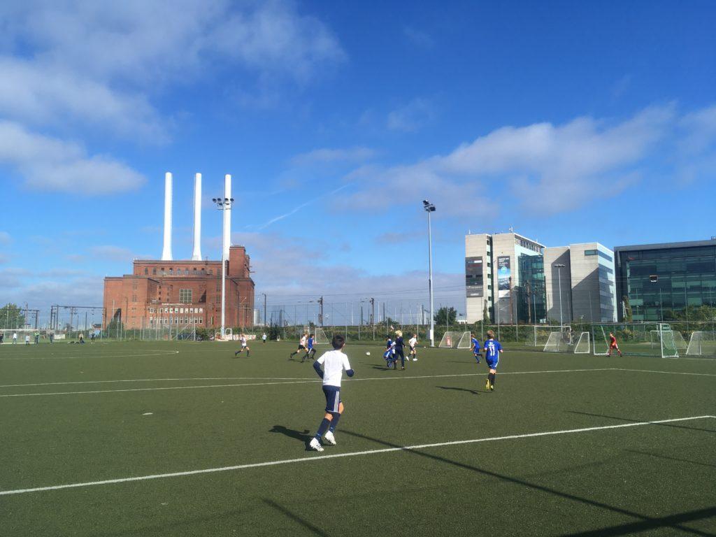 Youth soccer game in Copenhagen