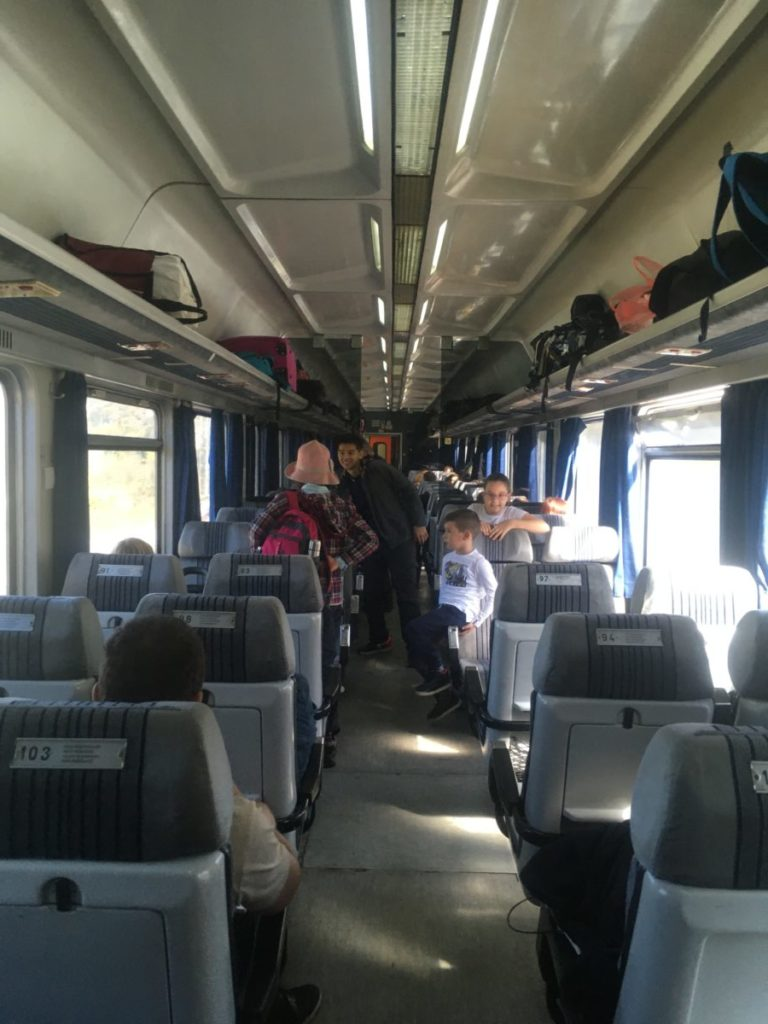 Second class car on train from Bar to Belgrade