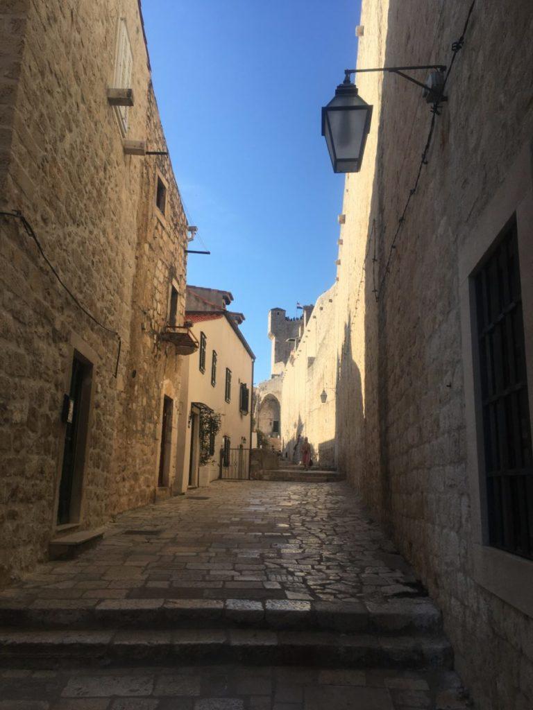 Steps in the Old Town in Dubrovnik, Croatia