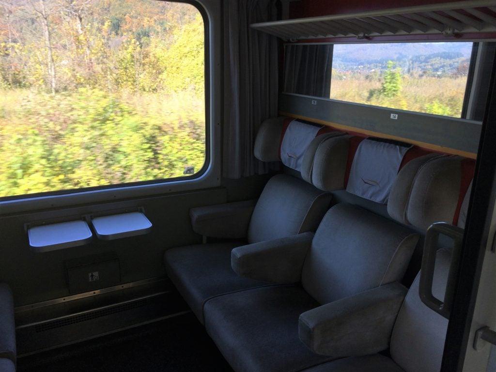 Cabin car on train from Bar to Belgrade