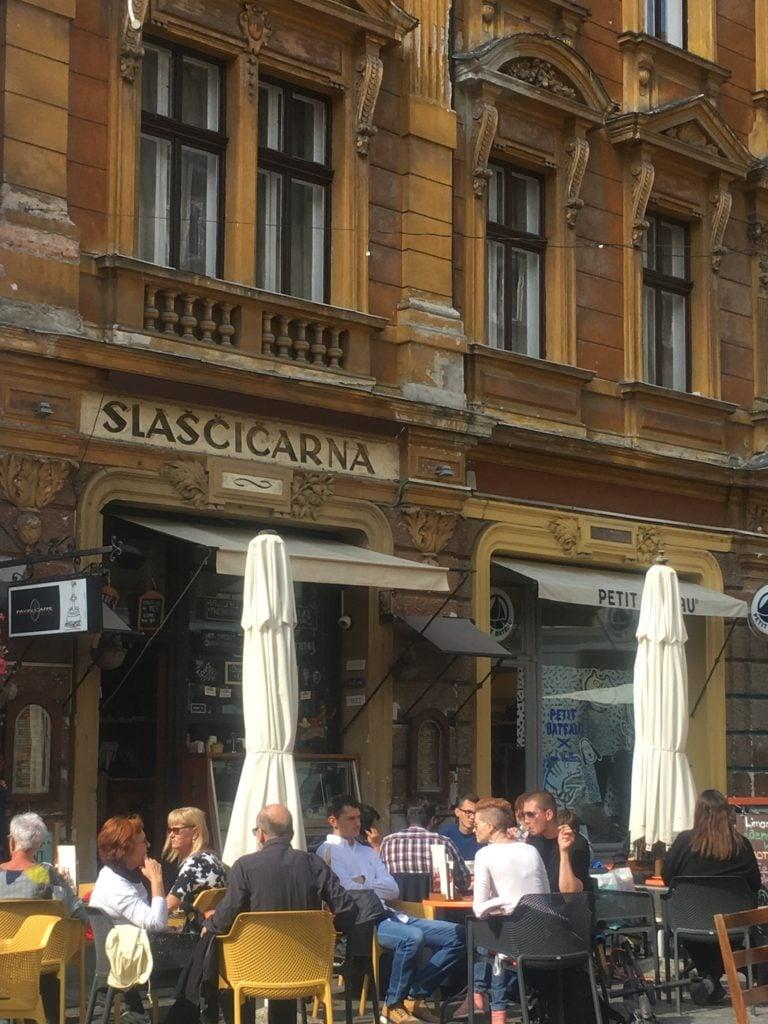 Cafe in Ljubljana