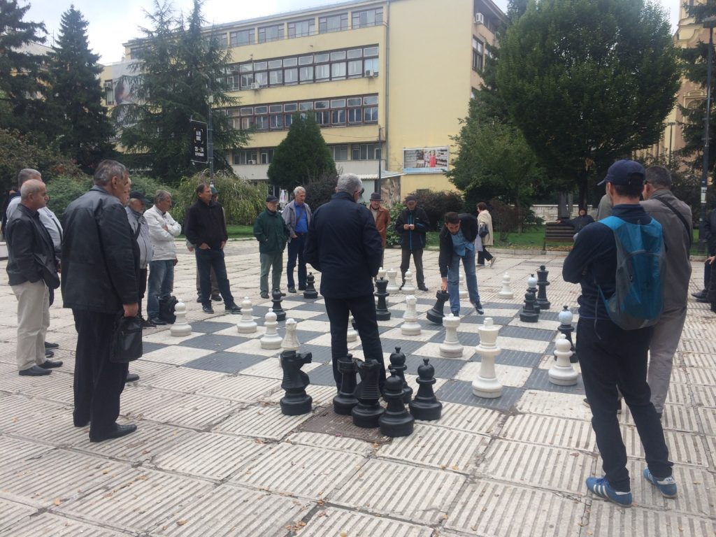Game of giant chess in Sarajevo