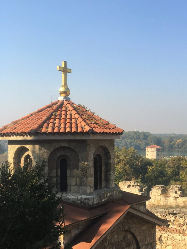St Petka Church and Nebojsa Tower in Belgrade, Serbia