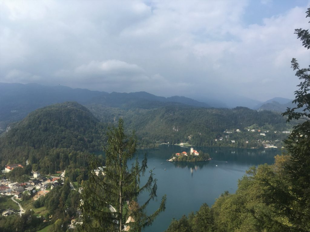 View of Bled Island from Dobra Gora