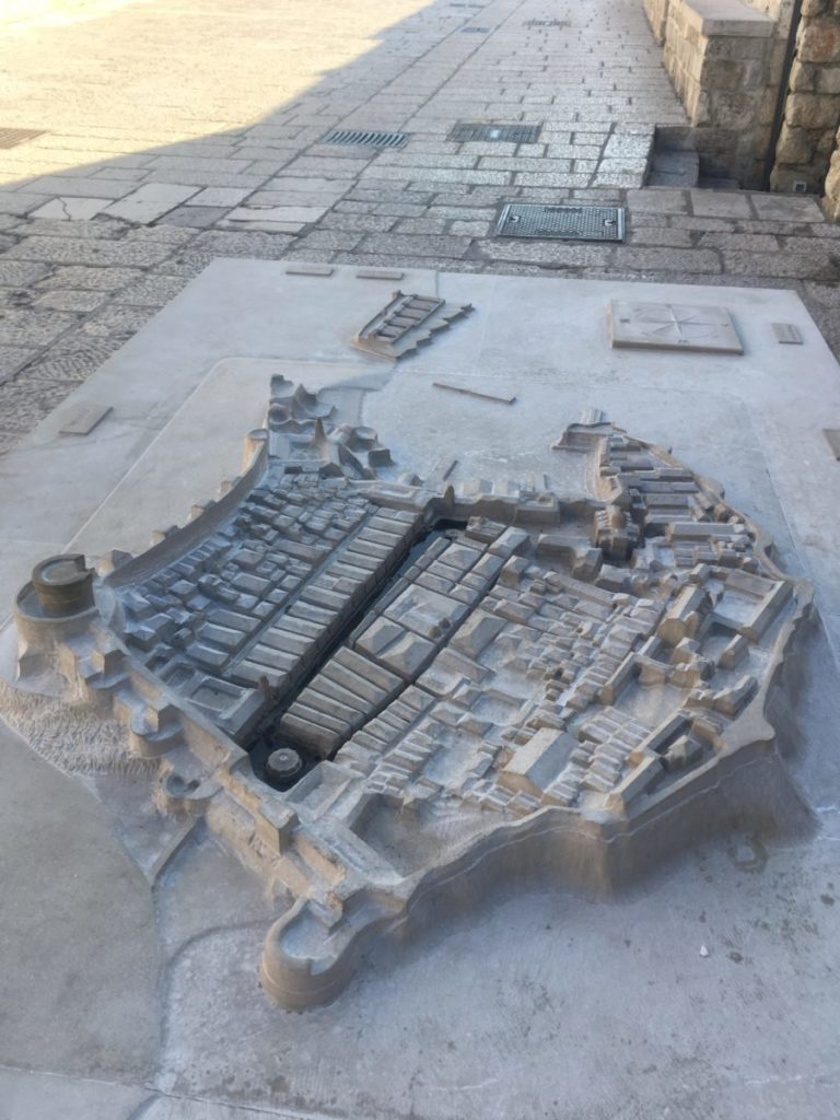 Relief map of Old Town, Dubrovnik