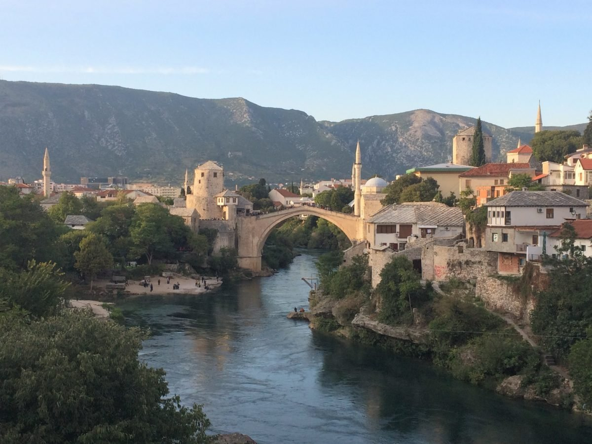 Stari Most from Lucki Most in Mostar