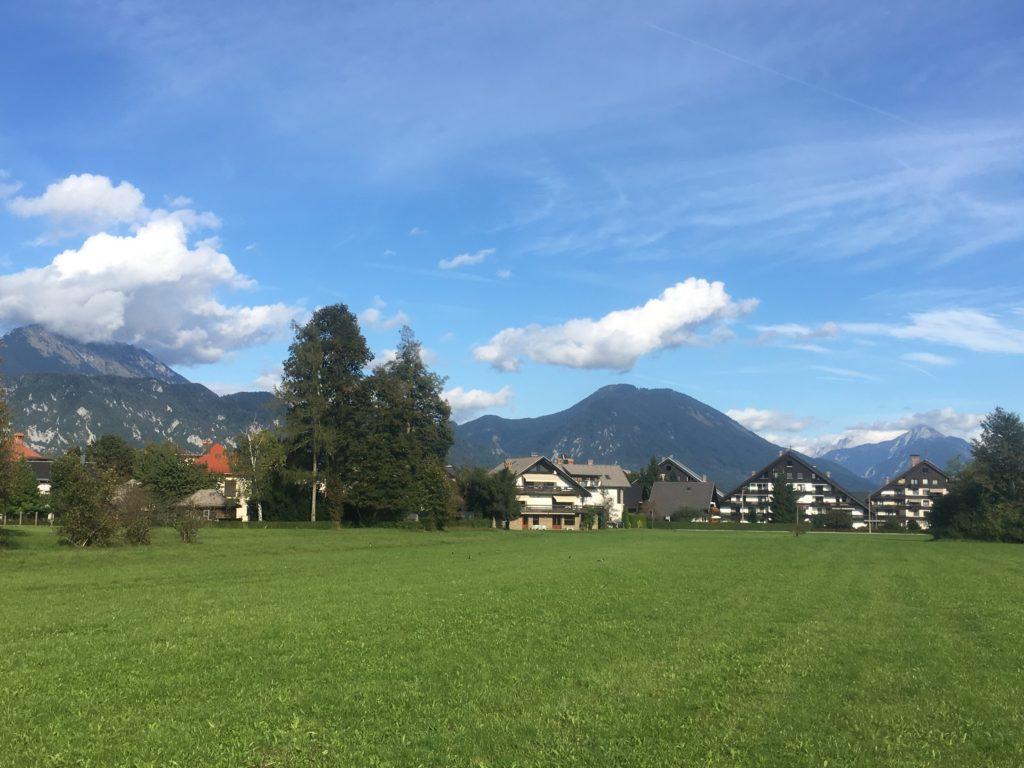 Rural village in Slovenia