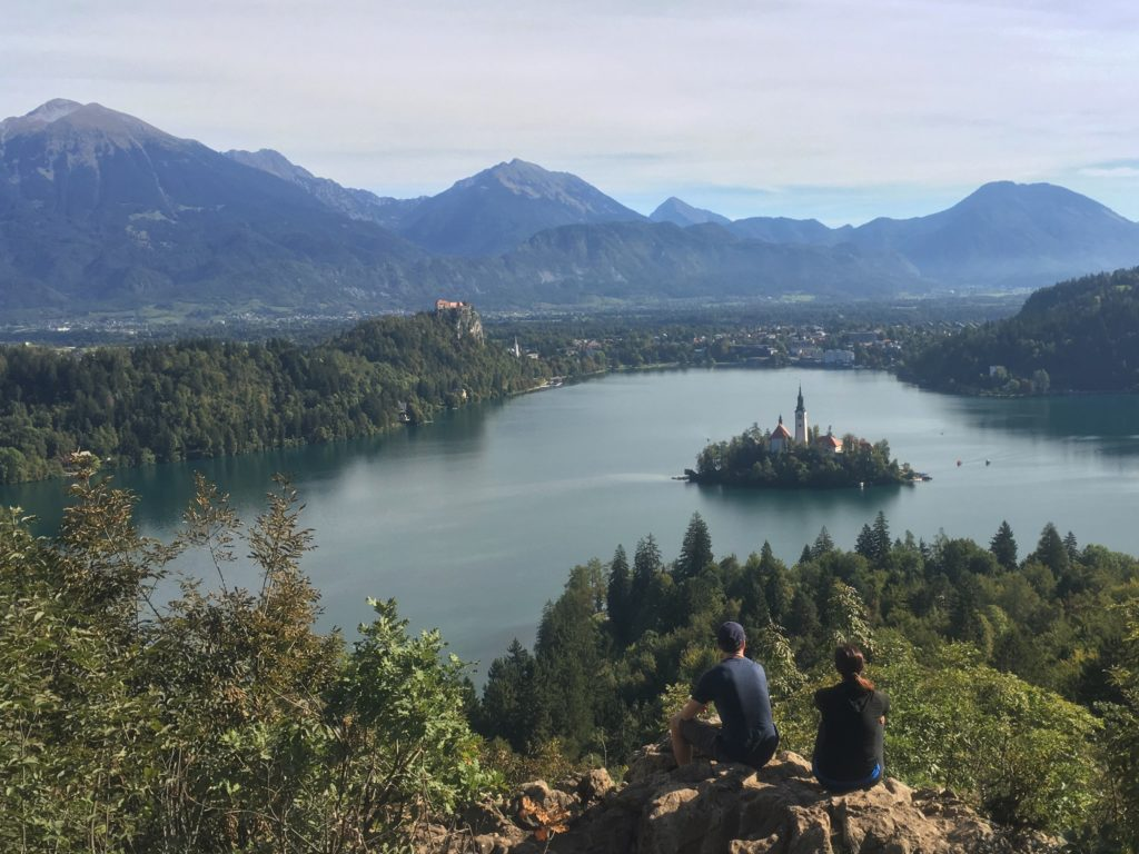 Ojstrica viewpoint overlooking Lake Bled, Slovenia