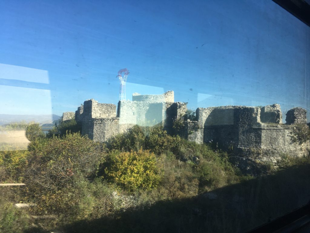 Lesendro Fortress in Montenegro on the Balkan Express Belgrade to Bar train ride