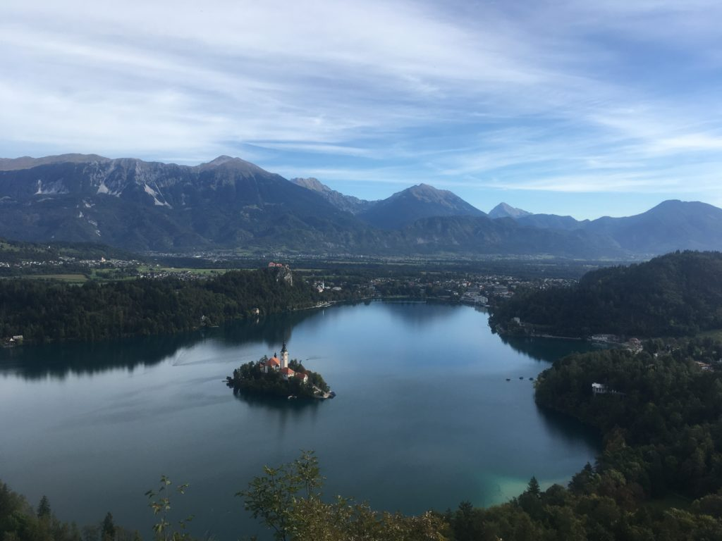 View of Lake Bled from Mala Osojnica