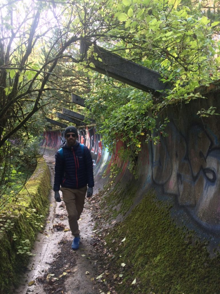 Abandoned bobsled track from the 1984 Sarajevo Winter Olympics