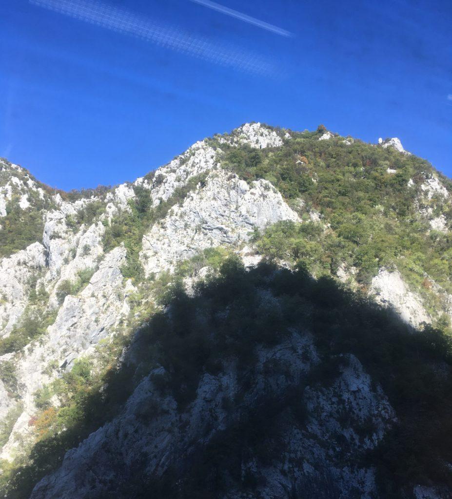 Mountain in shadow in Montenegro