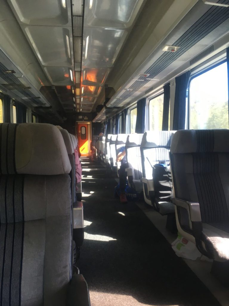 First class car on from Bar to Belgrad traine