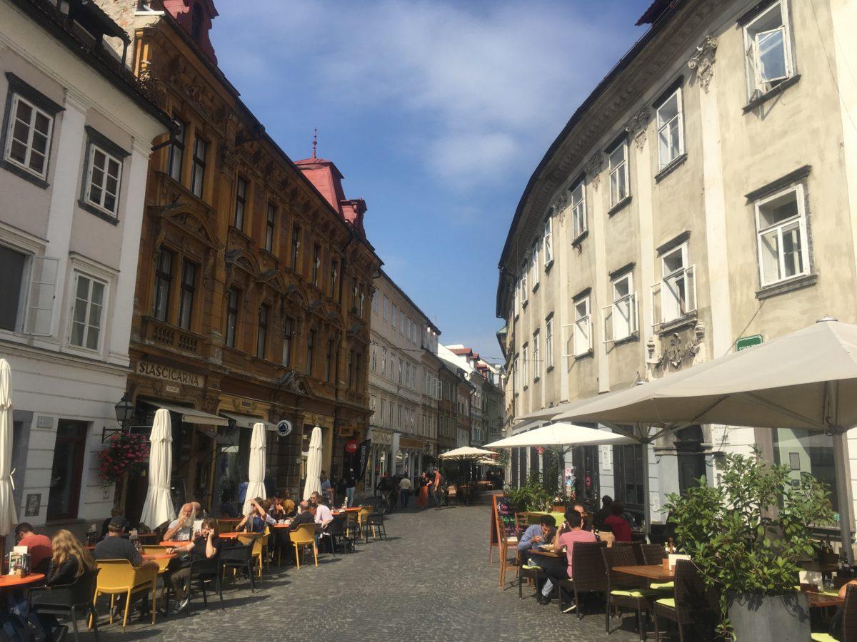 The old square in Ljubljana, Slovenia