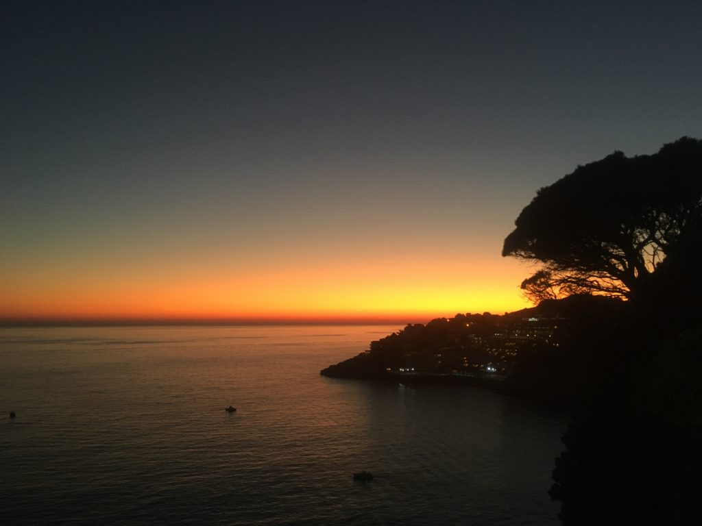 Sunset over the Adriatic Sea from Dubrovnik