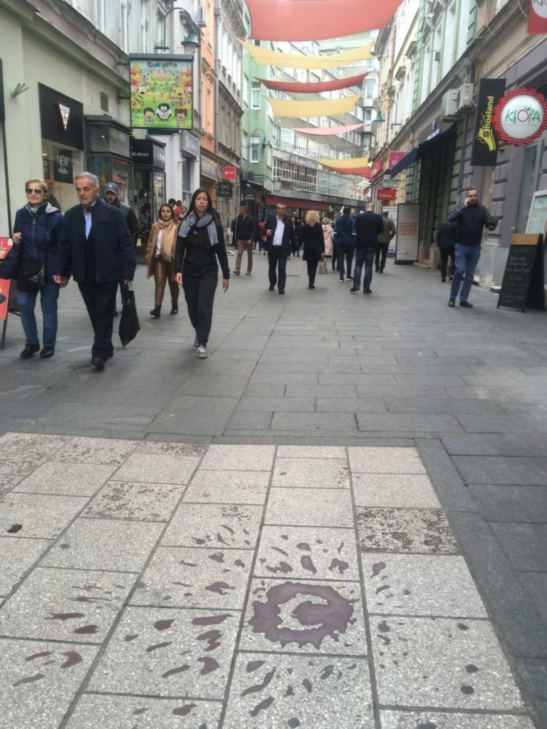 Sarajevo Rose mortar damage