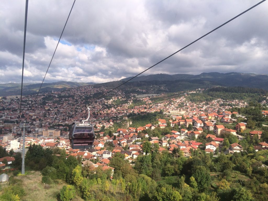 Sarajevo from the Olympic cable car