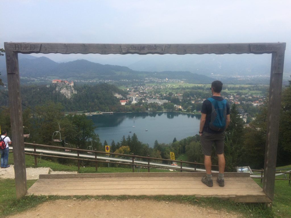 Straza Hill viewpoint overlooking Lake Bled