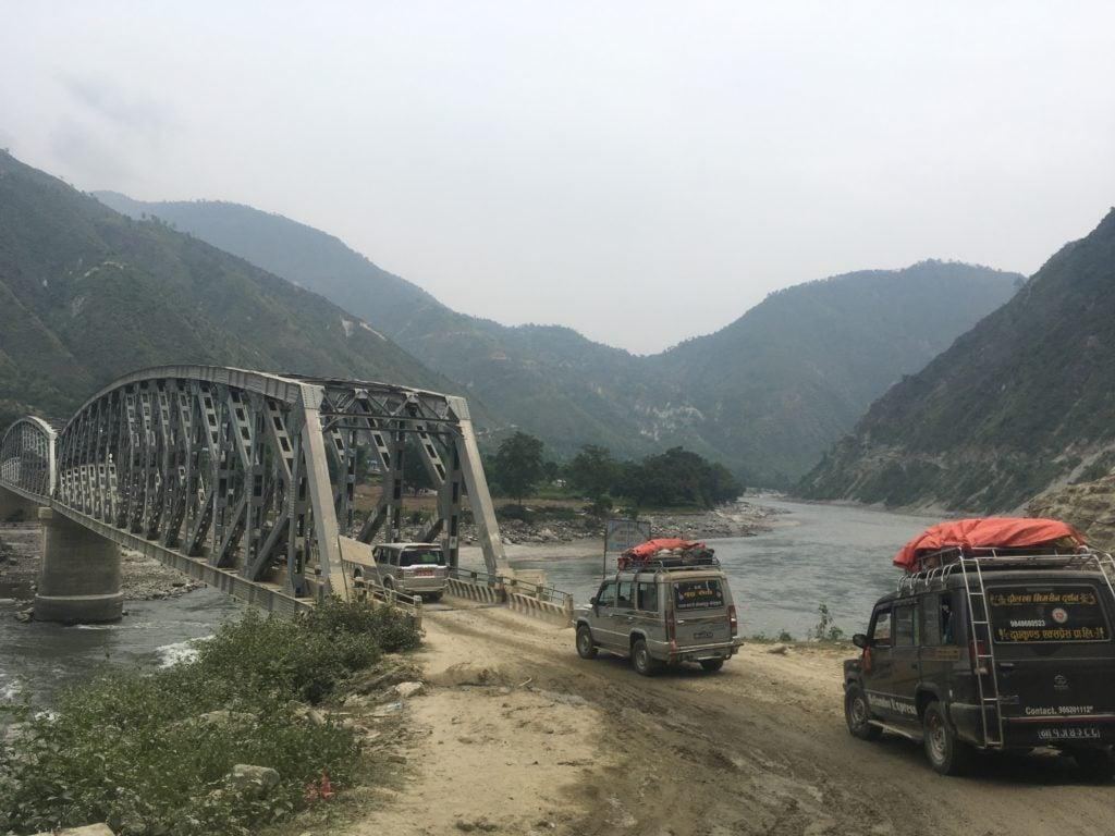 Jeep caravan in Nepal