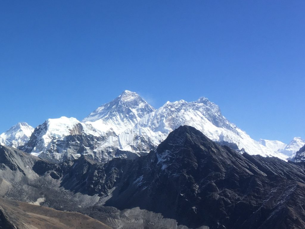 Mount Everest and Mount Lhotse, Nepal Himalaya
