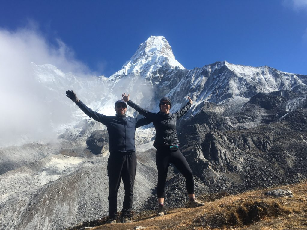 Couple in front of Ama Dablam, Nepal