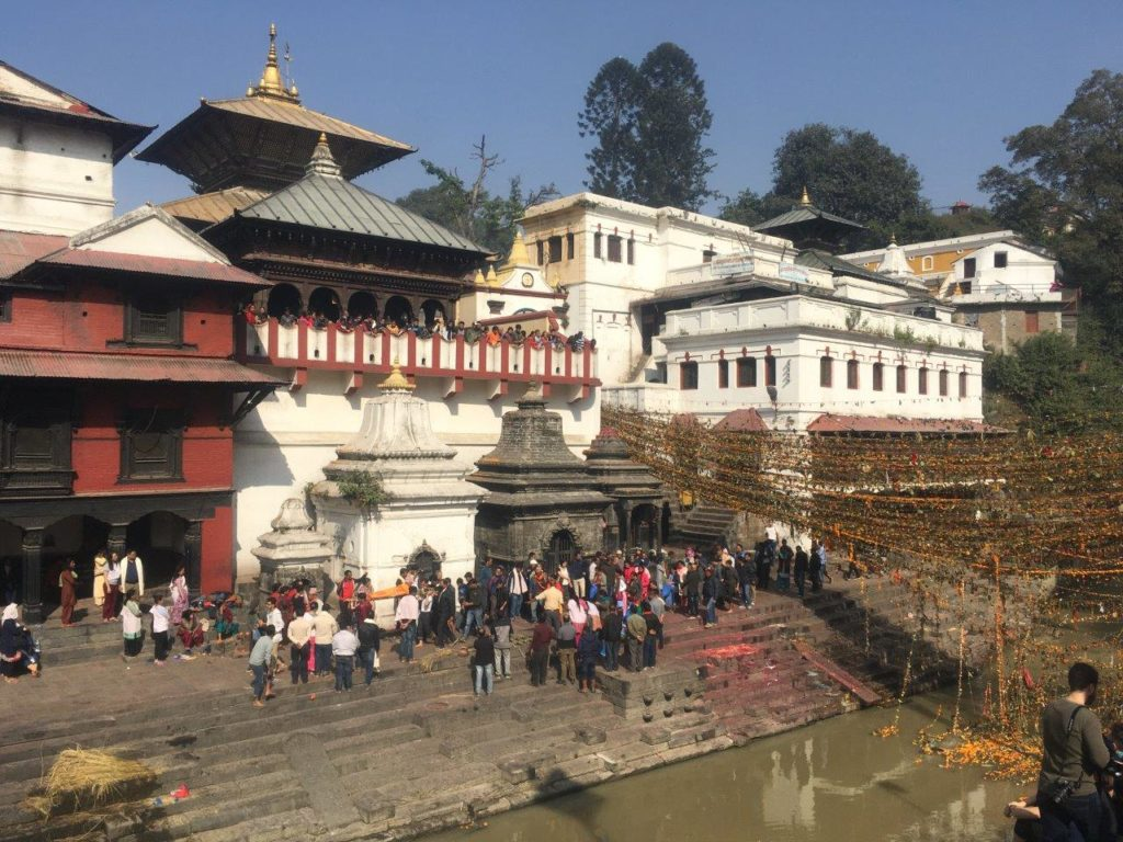 Funeral ghat in Pashupatinath, Nepal