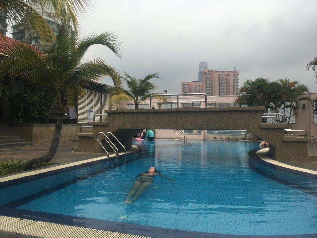 Rooftop pool in Kuala Lumpur, Malaysia