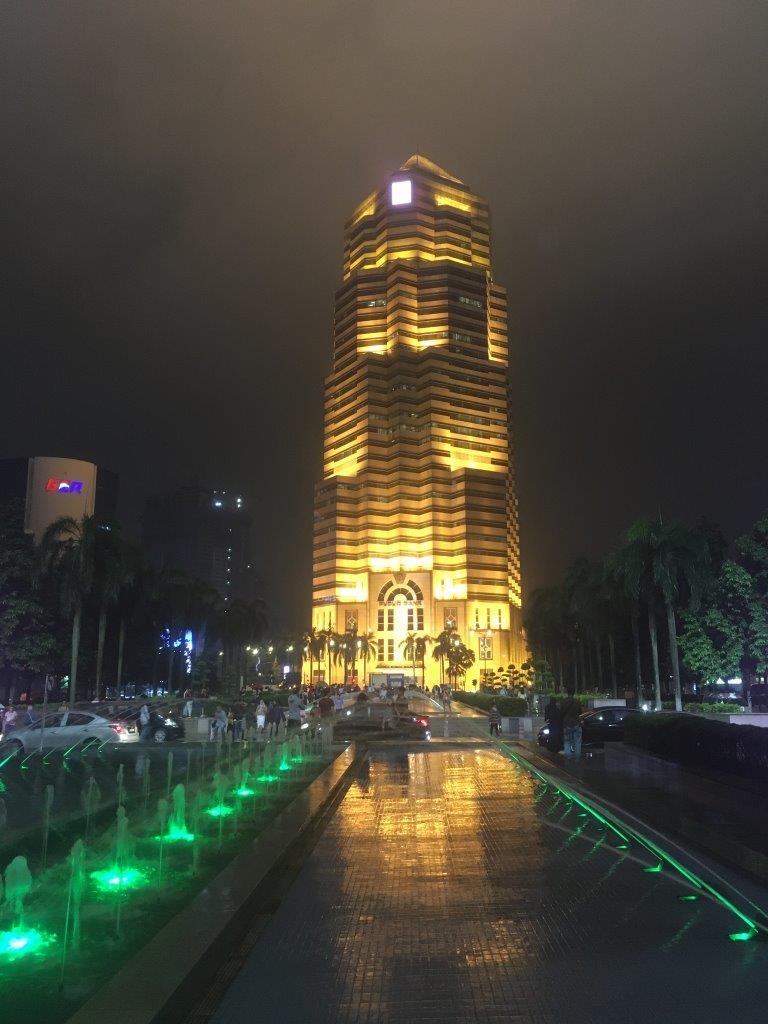 Building at night in Kuala Lumpur