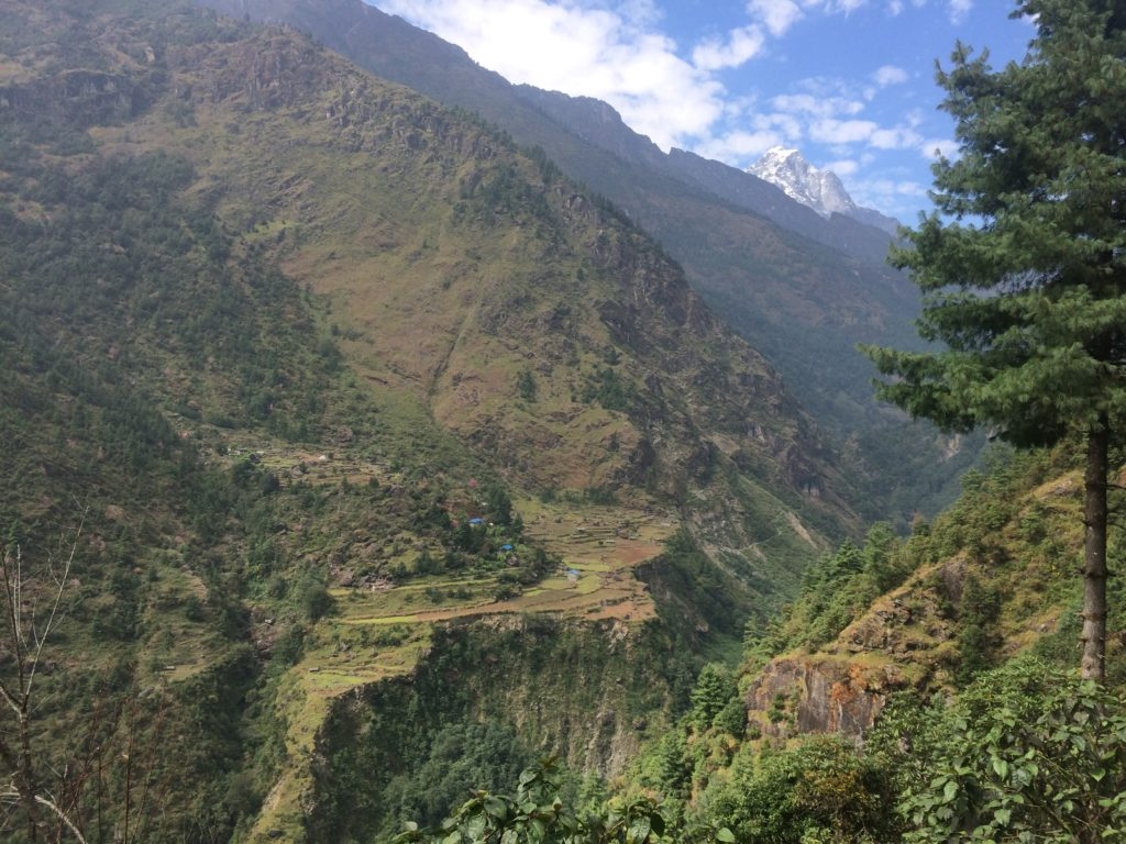 Valley in the Nepal Himalaya