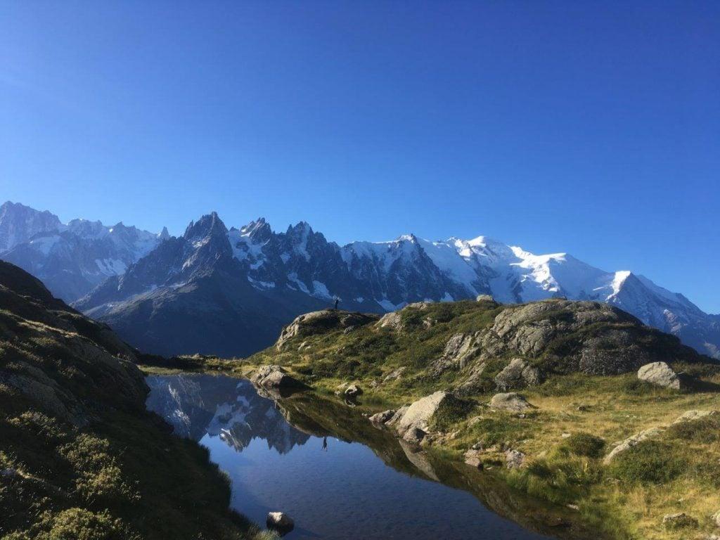 Lake on Tour du Mont Blanc Circuit